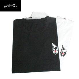 【送料無料】lucien pellat-finet ルシアンペラフィネ 2 Tシャツ パック スカル クラウン メンズ 半袖Tシャツ CP06U WHITE/BLACK ブランドTシャツ