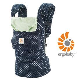ergobaby エルゴベビー ORIGINAL BABY CARRIER ベビーキャリア 抱っこ紐 BCASWDT14NL INDIGO MINT DOTS インディゴミントドット ネイビー