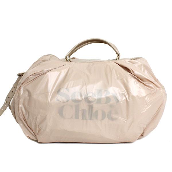 SEE BY CHLOE シーバイクロエ ショルダーバッグ ラージダブルファンクション 9S7550 P67 081 HIPPO ベージュ ナイロン 大容量 ダンスバッグ ジムバッグ