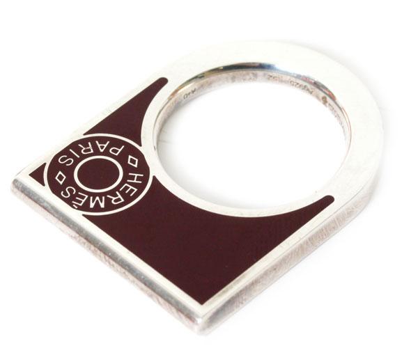 【送料無料】【新品】HERMES エルメス BAGUE NUMERO リング 062101FP プルーン 指輪 ペンダントトップ 【楽ギフ_包装】