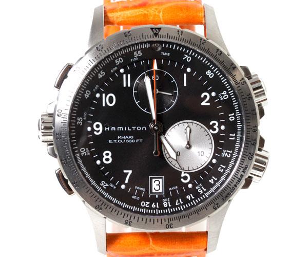 【送料無料】HAMILTON ハミルトン 腕時計 Khaki ETO カーキ E.T.O H77612933 オレンジ クロノグラフ