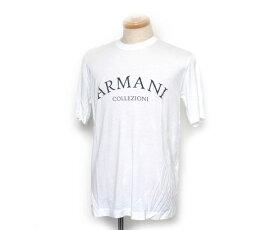 【送料無料】ARMANI COLLEZIONI アルマーニ メンズTシャツ ホワイト(白)