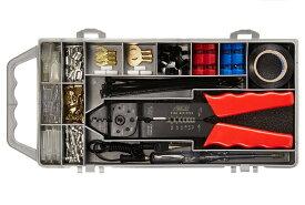 エーモン AMON ターミナルセット E3 車用端子 電工ペンチ・検電テスター付