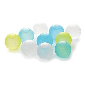 【メール便送料無料】クリスタルアイスボール 10個パック ブルー BS550CB 4521574008736 溶けない氷 保冷剤