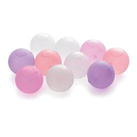 【メール便送料無料】クリスタルアイスボール 10個パック ピンク BS550CP 4521574008736 溶けない氷 保冷剤