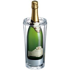 【送料無料】クール ワインクーラー シャンパンクーラー クリア 1本用 二重構造 保冷剤 2941 RJ