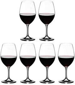 【送料無料 正規品 6脚セット】リーデル RIEDEL オヴァチュア レッドワイン 350ml ワイングラス 箱入6脚610cc  6408/00 RJ