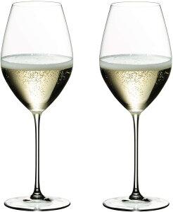 【送料無料 2脚 正規品】リーデル Riedel ヴェリタス シャンパーニュ ワイングラス 6449/28 2脚セット 箱入 RJ