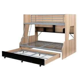 【下段セミダブル】スライド 三段ベッド 3段ベッド Lagos(ラゴス) 2色対応 キャスター付き 収納ベッド 親子ベッド 親子二段ベッド 親子2段ベッド 親子三段ベッド 親子3段ベッド 子供用ベッド 木製 スチール 子供部屋 おしゃれ (大型)