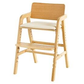 高さ調節可能 座面奥行調節可能 キッズダイニングチェア kitoco(キトコ) 4色対応 木製 シンプル いす イス 椅子 チェア 子供用 食事 学習 クッション ハイチェア ダイニング 大和屋 yamatoya