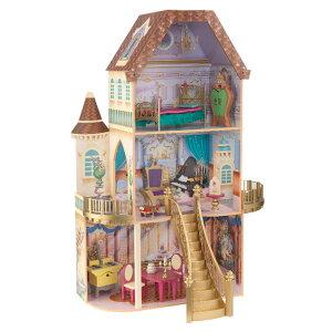 【CEマーク認定/家具のおもちゃ13点付き】 KidKraft プリンセスベルのファンタジードールハウス ミニチュアハウス ドールハウス 高さ120cm 人形遊び 家具付き 三階建て ドールハウスセット 木