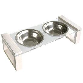 フードボウルスタンド RIME(ライム) 2口 ペット用 フードボール 高さ11.5cm 犬 猫 スタンド 高さがある ペット ペット用食器 アクリル ペットグッズ ペット用品 エサ入れ 水入れ