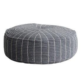 クッション フロアクッション QCA-5021 3色対応 直径50cm 綿100% 円形 座椅子 フロアークッション 椅子 イス スツール 昼寝 枕 リビング ステッチ 補助いす シンプル おしゃれ 北欧 ビーズ