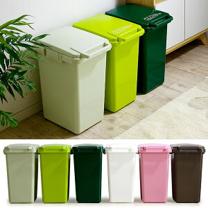 【割引クーポン配布中】【日本製ふた付きゴミ箱】エコ コンテナスタイル 45L 6色対応 ごみ箱 ダストボックス ゴミ ごみ 分別 屋外 おしゃれ キッチン 庭 ベランダ リビング 45リットル 連結可