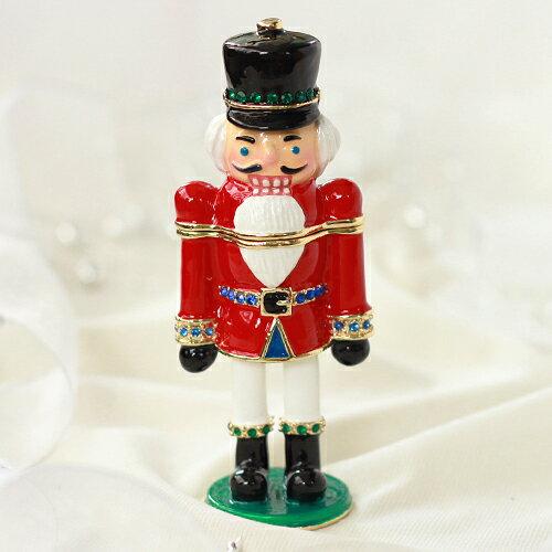 くるみ割り人形 ジュエリーボックス にキラキラの小物入れ Xmasプレゼント Nutcracker ジュエリーケース ギフト 卒業 入学 可愛い 誕生日プレゼント 女性 【あす楽対応】クリスマスツリー クリスマス 新生活 母の日
