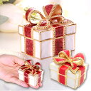【クーポン利用で半額】<プレゼントボックス ジュエリーボックス(ワインリボン/レッドリボン)>誕生日 プレゼント ギフト クリスマス卒業 入学 結婚 出産 お祝い 就職 宝石箱 ジュエリーケース アクセサリーケース メモリアル かわいい