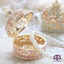 <ミニチュアクラウン(ゴールド) ジュエリーボックス>ピィアース人気の宝石箱がミニチュアサイズに 王冠 置物 クリスタル アクセサ…