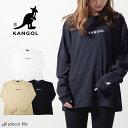 カンゴール tシャツ KANGOL ロゴ刺繍 ロンT TEE /ロゴT Tシャツ 長袖 メンズ レディース ユニセックス ブランド おしゃれ カジュアル 綿100% スポーツ ビッグT 9173-9017A ビッグシルエット ストリートスタイル ストリート 韓国ファッション