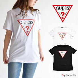 guess t ゲス tシャツ GUESS Tシャツ クルーネック シンプル プリント メンズ レディース ユニセックス男女兼用 リンクコーデ MJ2K9405 メンズ レディース ユニセックス ペア 半袖 ブランド ストリート 綿100% ビッグT 白T 黒T