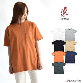 10%OFF グラミチ Tシャツ GRAMICCI Gramicci ONE POINT TEE Tシャツ 半袖 ワンポイント コットン クルーネック シンプル 無地 刺繍 ポケット ベーシック アウトドア レディース メンズ ユニセックス