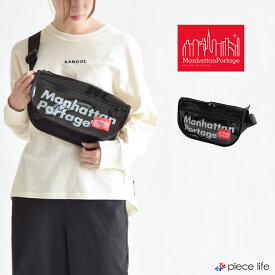 Manhattan Portage マンハッタンポーテージ ウエストバッグ エナメル Leadout Waist Bag Enamel バッグ メンズ レディース レディースバッグ 男女兼用 ボディバッグ かばん ブラック Black 黒 MP1115ENML 数量限定商品