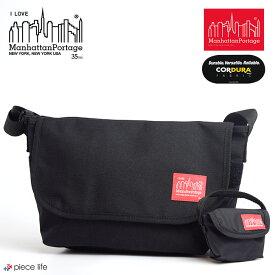 ◆Manhattan Portage マンハッタンポーテージ 35TH ANNIVERSARY MODEL Casual Messenger Bag 35周年記念 カジュアル メッセンジャー バッグ スリム (Sサイズ) / メンズ レディース ショルダーバッグ ブラック MP1605JRS-35TH