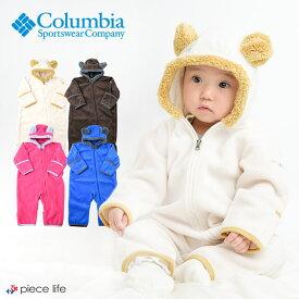 クーポン利用で10%OF◆コロンビア Columbia クマ耳フード付き フリースロンパース タイニーベアIIバンティング くま 70cm 80cm SN0214 赤ちゃん ベビー カバーオール 出産祝い