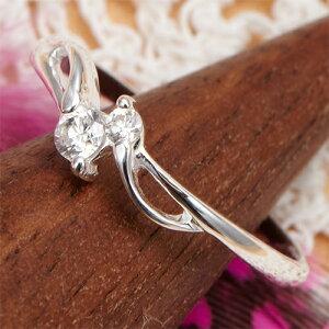 ピンキーリング 小指 指輪 繊細華奢デザイン ラインストーン シルバー925 メール便 送料無料 プレゼント 春夏 大人気