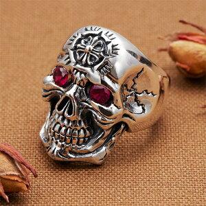 リング メンズ 指輪 シルバー925製 キュービックジルコニア ドクロ スカル 頭蓋骨モチーフ メンズ ユニセックス 送料無料 春夏 大人気