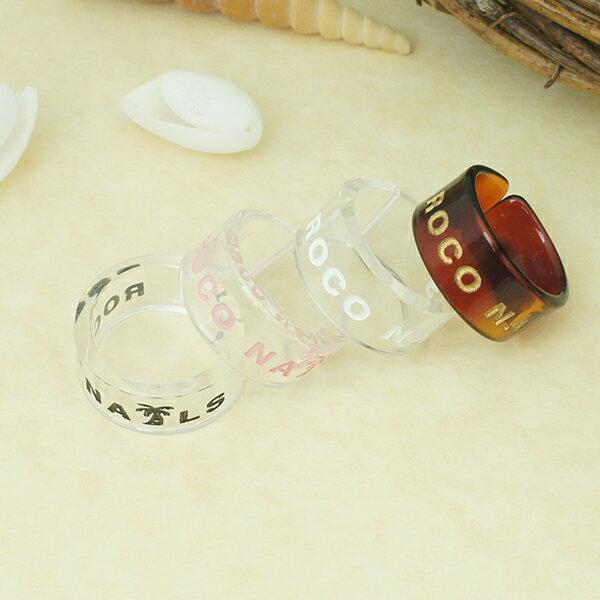 アクリルリング ロコネイル roco nails ノンアレルギー クリアリング 指輪 ハワイアンジュエリー フリーサイズ 11号〜14号の間 レディース