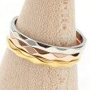 リング レディース ピンキーリング 指輪 ステンレス 金属アレルギー対応 傷つきにくい シンプル ダイヤカットリング …