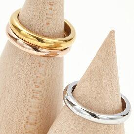 リング レディース ピンキーリング 指輪 ステンレス 金属アレルギー対応 傷つきにくい シンプル 厚めラウンドリング デイリーリング 艶やかなメタル メール便 送料無料 秋冬 大人気