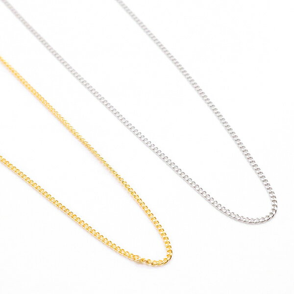 レディース メンズ ユニセックス ネックレス チェーンのみ 喜平 キヘイ 日本製 シルバー ゴールド 金属アレルギー対応 40cm 引き輪金具 メール便 送料無料