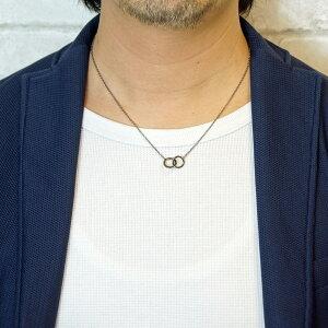 31eb7a70326b7c 幸運を呼ぶブルーダイアモンドのダブルサークルネックレスキュービックジルコニアシルバー925製ブラックリング
