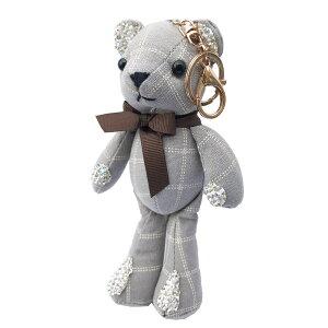 キーホルダーレディーステディベアバッグチャームぬいぐるみ熊クマりぼん大振り大きいチェック可愛いプレゼントギフトメール便送料無料クリスマスプレゼント秋冬