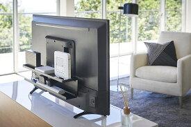 テレビ裏収納ラック ブラック スマート テレビ裏 ルーター収納 収納棚 リビング雑貨 便利雑貨 ギフト プレゼント