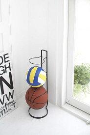 ボールスタンド フレーム ブラック ボール置き ボール収納 3段 縦型 省スペース 玄関 エントランス 人気 便利雑貨