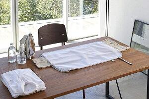 アイロンマット くるくるあて布付き アルミコーティング加工 コンパクト収納 お手軽にアイロン掛け ホワイト 白 折り畳み