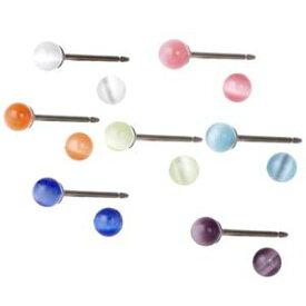 医療用チタン製ポスト キャッツアイピアス 選べる11色 さらに直径3ミリと4ミリをご用意 メール便 送料無料