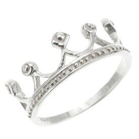 リング 指輪 ピンキーリング レディース 王冠デザイン クラウン ティアラ 華やか 人気 オシャレ かわいい プリンセスティアラ 王冠 メール便 送料無料