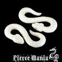 4G★妖艶なホワイトスネーク!白蛇フックピアス/ヘビ★あす楽対応