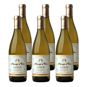 メナージュ・ア・トロワ ゴールド (2018) 6本セット アメリカ カリフォルニア 白 ワイン 辛口 | ワイン プレゼント ギフト ラッピング おすすめ 人気 wine お酒 美味しい ぶどう ブドウ 高級 海外