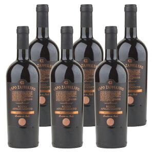 カポ・ザッファラーノ ロッソ アパッシメント (2019) 6本セット イタリア プーリア 赤 ワイン 辛口   ワイン プレゼント ギフト ラッピング おすすめ 人気 wine お酒 美味しい ぶどう ブドウ 高級