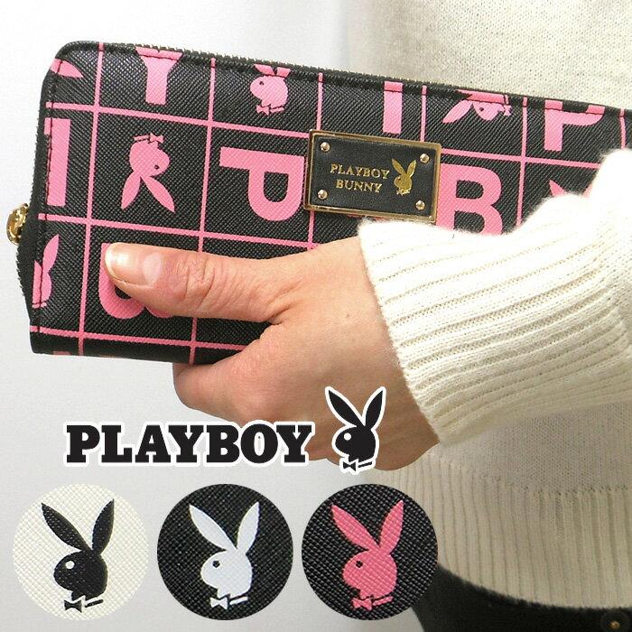 PLAYBOY プレイボーイ ボックス ロゴ ラウンド 長財布 /メール便可【母の日】