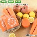 定番のにんじんりんごレモンジュース 1箱 100cc×30P 無農薬人参 りんご レモン にんじんジュース 人参ジュース ミッ…