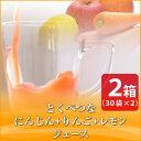 とくべつなにんじん・りんご・レモンジュース 【2箱】 【100cc×60p】【無農薬人参】【りんご】【レモン】【にんじ…