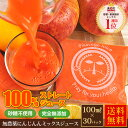 無農薬にんじんミックスジュース 1箱 100cc×30P 無農薬人参 りんご レモン にんじんジュース 人参ジュース ゆず カ…