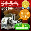 \予約特典&特別価格/ ANGEL エンジェルジューサー AG7500 ステンレスシルバー 多段圧縮式 スロージューサー 【ポイ…