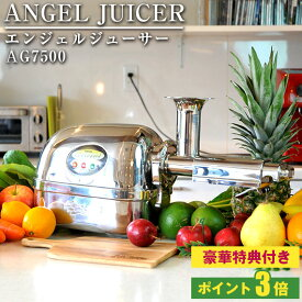 \特典・ポイント付/ANGEL エンジェルジューサー AG7500 ステンレスシルバー 多段圧縮式 スロージューサー ファスティング 断食 置き換え ダイエット オールステンレス