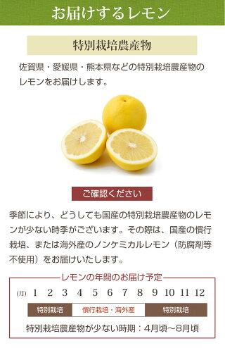 お届けするレモン
